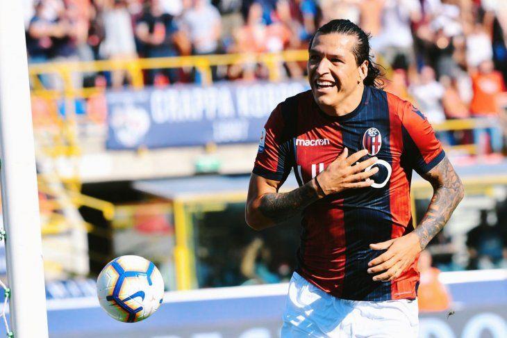 Federico Santander marcó su quinto gol en Serie A con el Bologna.