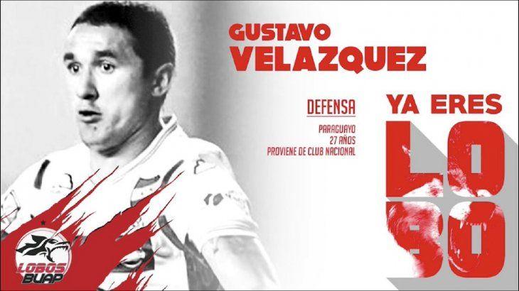 Víctor Gustavo Velázquez se convirtió en nuevo refuerzo de los Lobos BUAP de México.