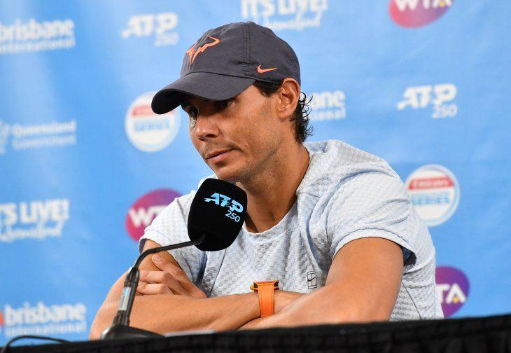 Rafael Nadal en conferencia de prensa.