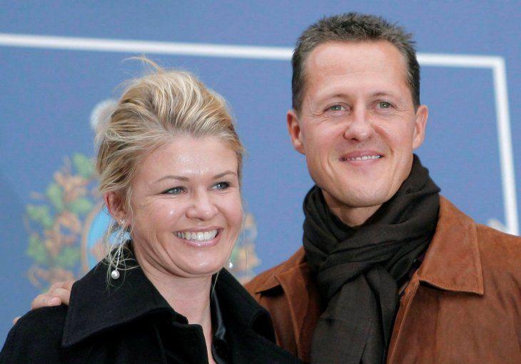 Michael Schumacher y su esposaCorinna Betsch.