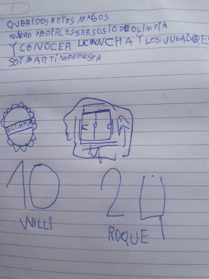 La carta de Martino Podestá.