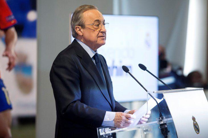 El presidente del Madrid habló tras la presentación de Díaz.