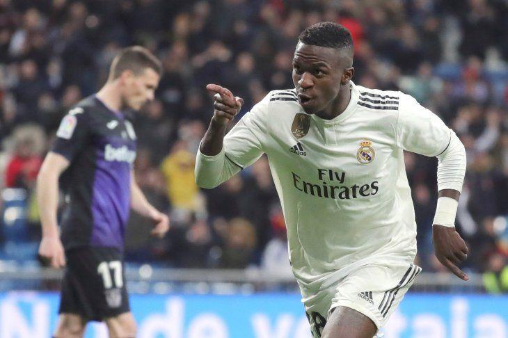 Vinicius lideró la reacción del Real Madrid.
