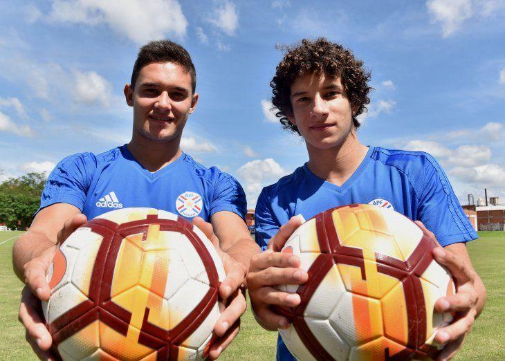 El presente. Fernando Romero e Iván Franco son dos de los referentes de la Albirroja Sub 20.