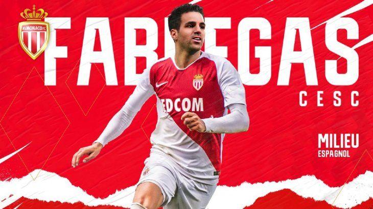 Cesc Fàbregas anuncia con un vídeo su fichaje por el Mónaco.
