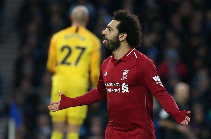 Mohamed Salah le dio la victoria al Liverpool.