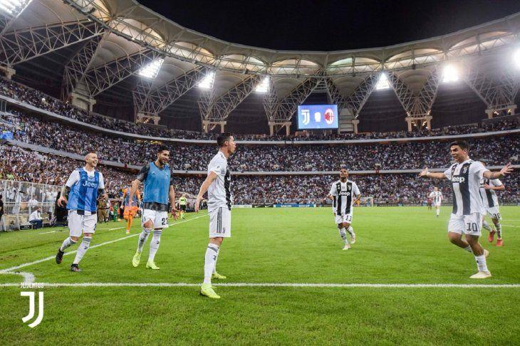 Cristiano Ronaldo celebra el gol marcado ante Milan.