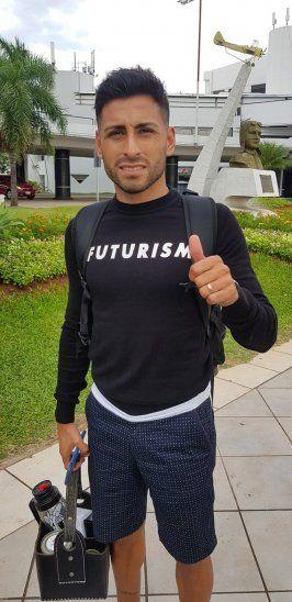 Federico Carrizo llegó al país para sumarse a Cerro Porteño.