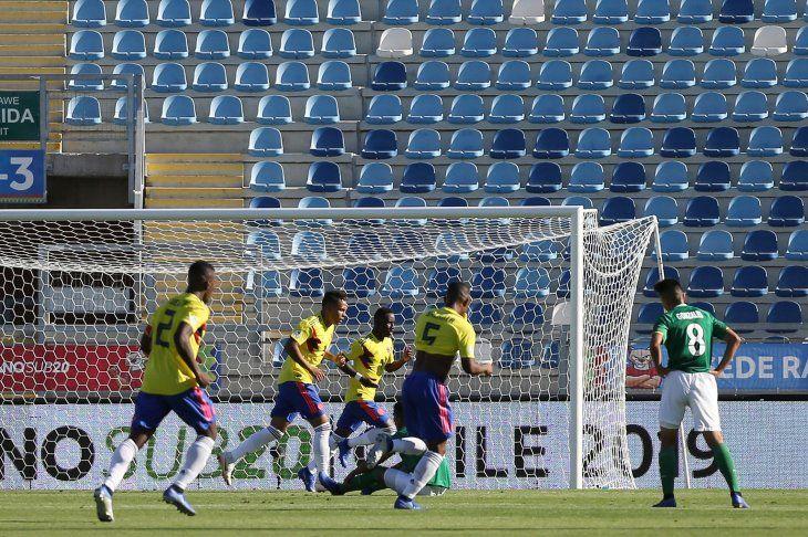Colombia derrotó a Bolivia este lunes.