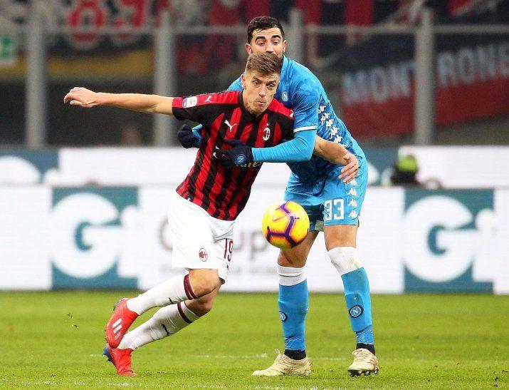Hubo paridad entre Milan y Napoli.