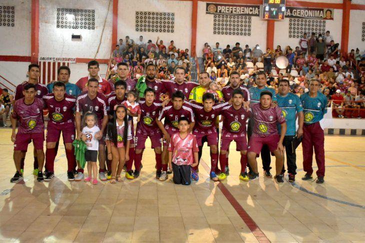 Selección Ñembyense que clasificó al Nacional de Fútbol de Salón de Alto Paraná.