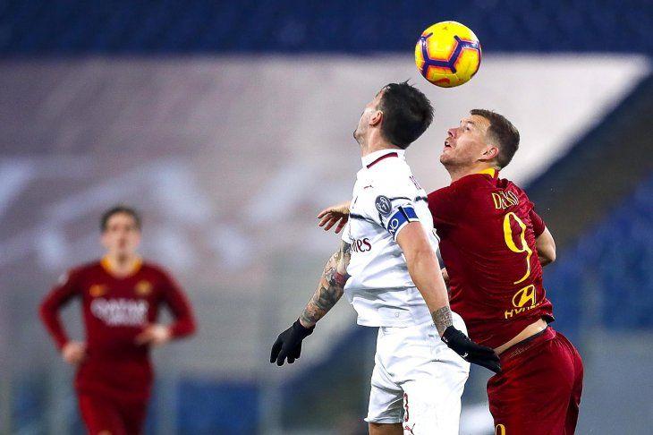 Hubo paridad entre Roma y Milan.