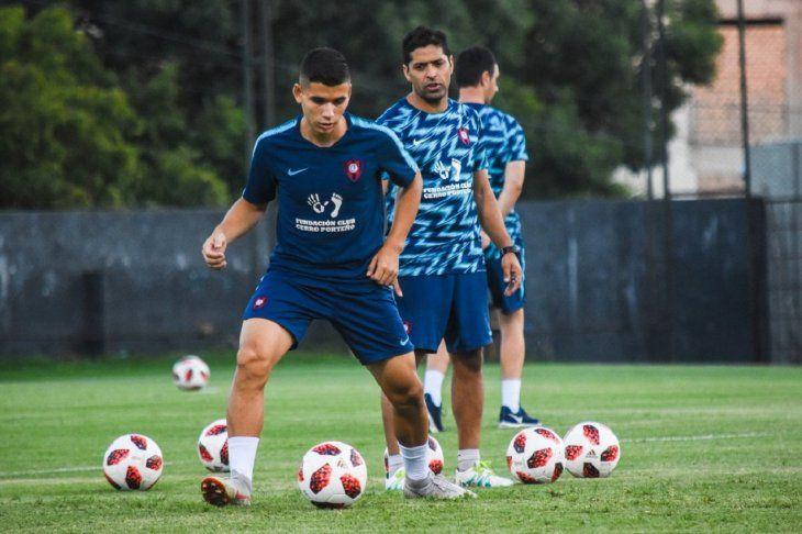 Julio Báez durante un entrenamiento.