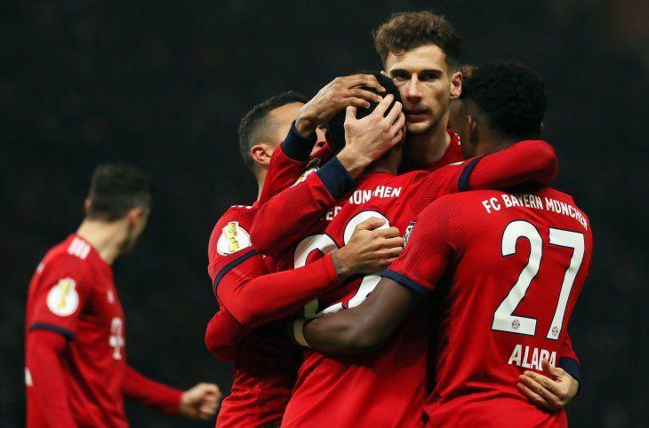 El Bayern avanzó a los cuartos de final.