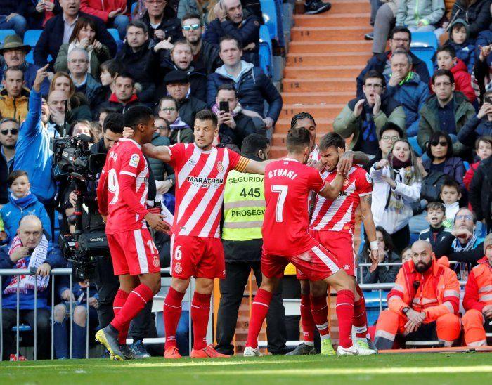 Girona venció a domicilio al Real Madrid.