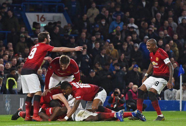 El United derrotó al Chelsea este lunes.