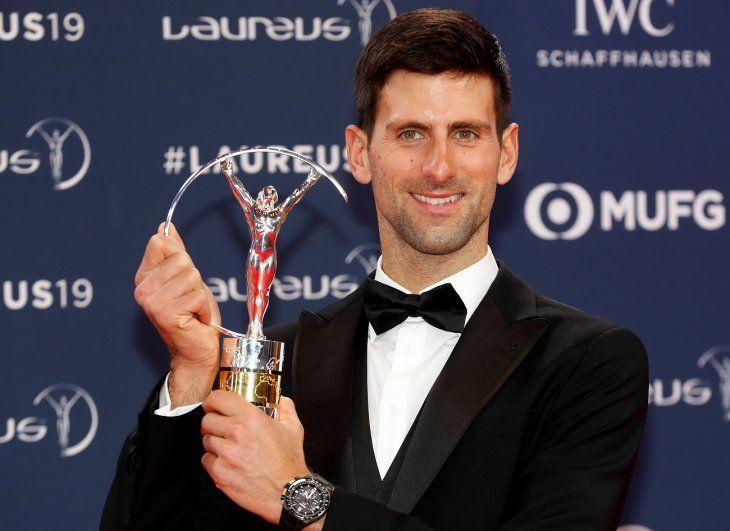 Djokovicfue premiado con el Laureus al mejor deportista masculino del año.