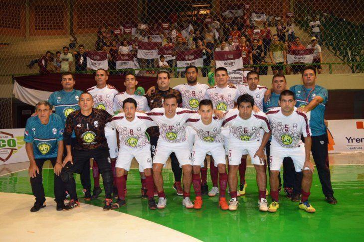 El equipo de la selección de Ñemby.