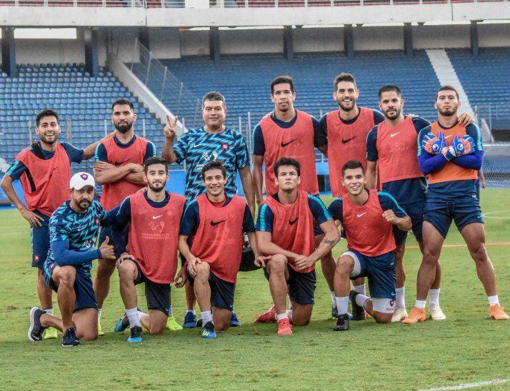 Jugadores del Ciclón después de un entrenamiento.
