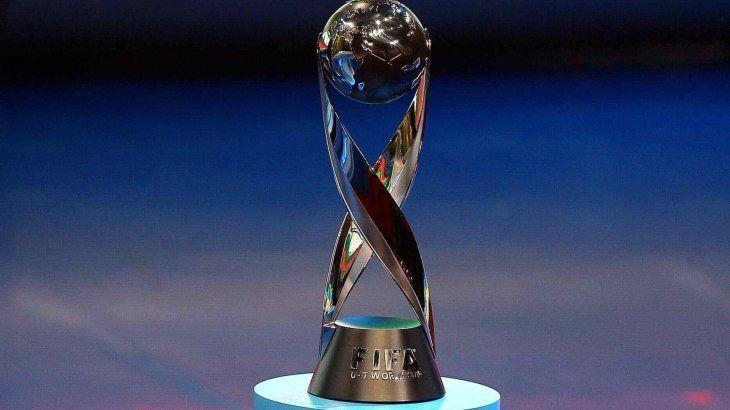 El trofeo del Mundial Sub 17.