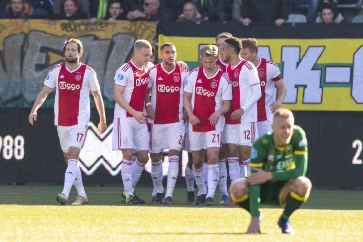 El Ajax triunfó este domingo en Holanda.