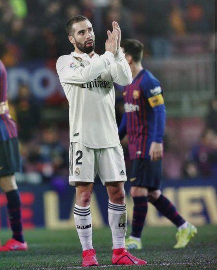 CONFIADO. Dani Carvajal se muestra confiado de cara a la revancha con el Barcelona.