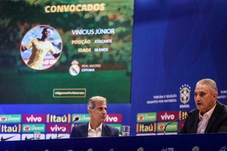 Tite convocó a Vinicius para los amistosos previo a la Copa América.
