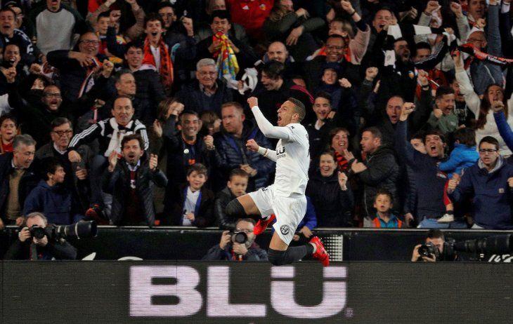 Rodrigo marcó el único tanto del partido.