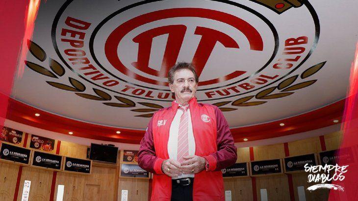 Ricardo La Volpe es el nuevo entrenador del Toluca mexicano.