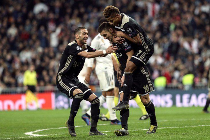Paliza histórica del Ajax al Real Madrid.
