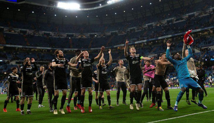 El triunfo del Ajax en Madrid también se vio reflejado en la bolsa.