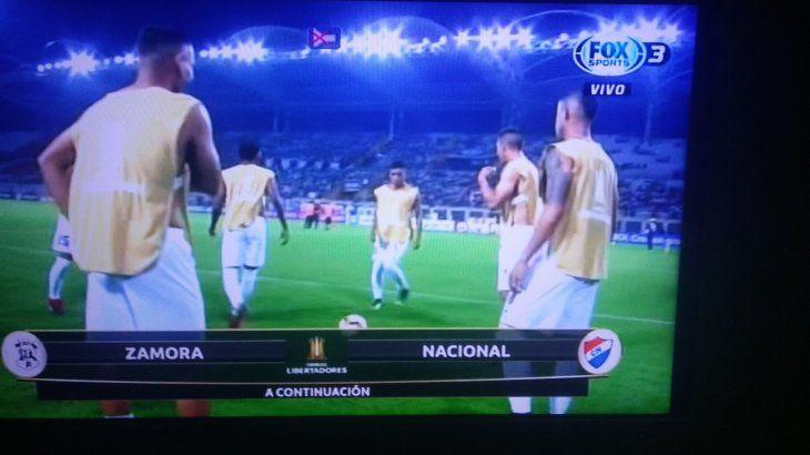 El escudo de Nacional apareció en un juego de Libertadores.