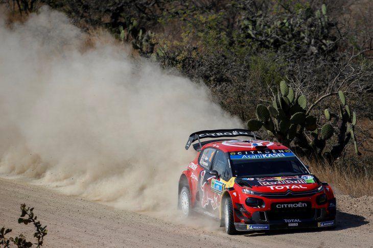 El francés Sebastien Ogier se pone a la cabeza en el rally de México.