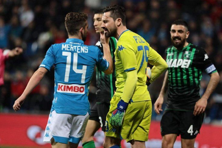 El Napoli sigue frenado en Italia.