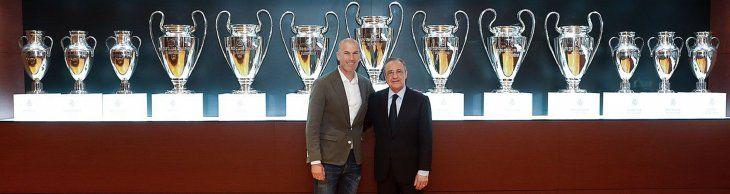 Zidane y Florentino Pérez.