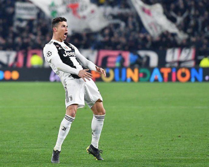 Cristiano Ronaldo celebra tras marcar ante Atlético.