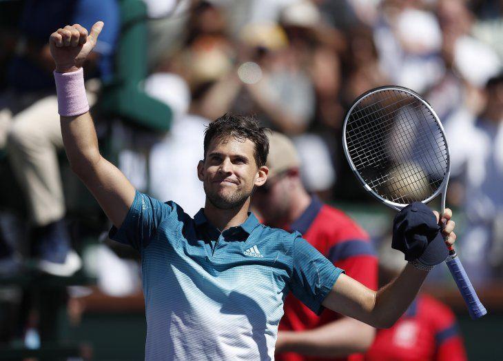 Thiem se impone a Raonic y jugará la final con Federer