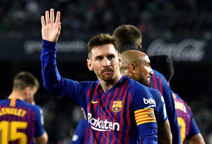 Messi tuvo una extraordinaria noche en España.