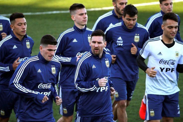 Messi se integró al trabajo de la Selección Argentina.