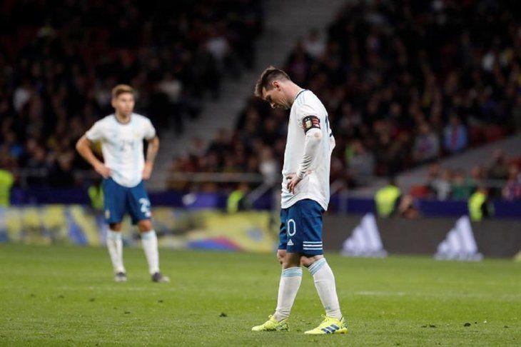 Leonel Messi durante el partido contra Venezuela.