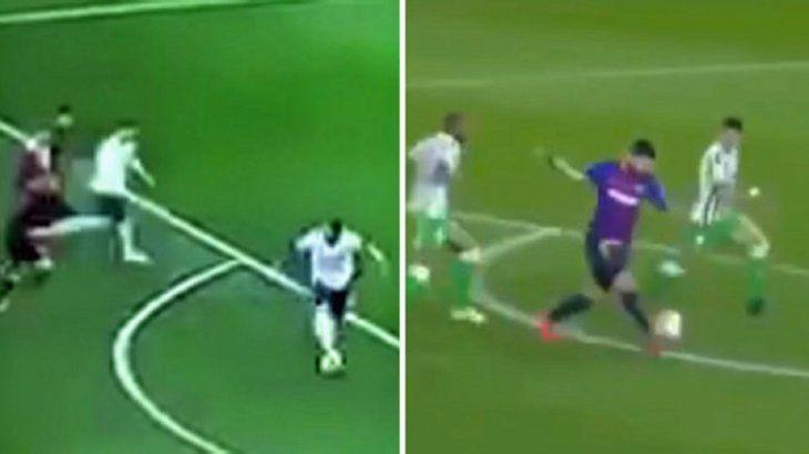 El taco de Benedetto a Messi se hizo viral.