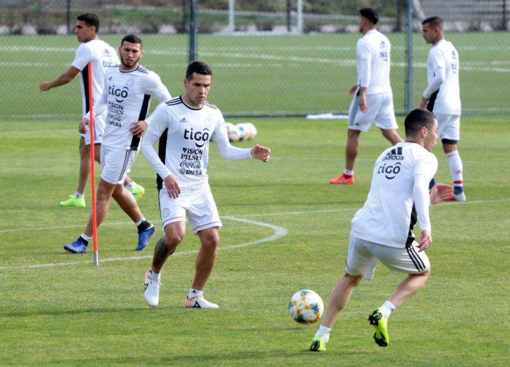 Entrenamiento de la Selección Paraguaya previo al amistoso ante México.