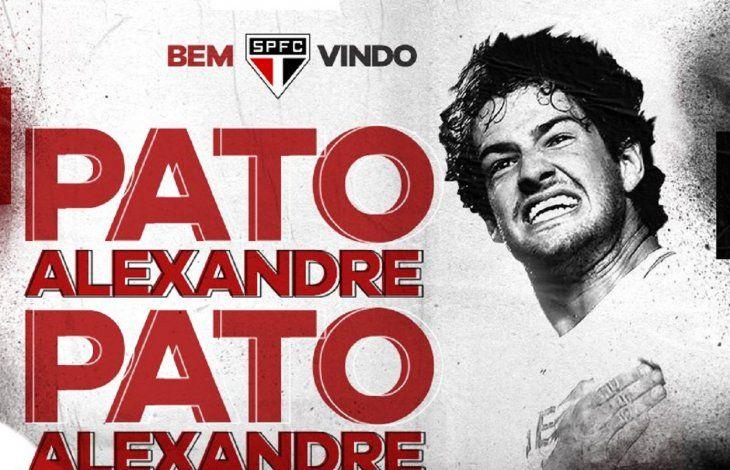El Sao Paulo anuncia el regreso del internacional Alexandre Pato.