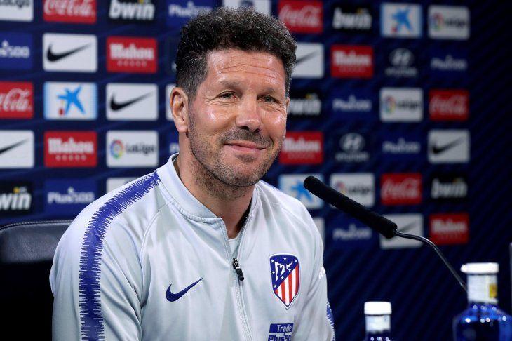 Diego Simeone habló en conferencia de prensa este viernes.