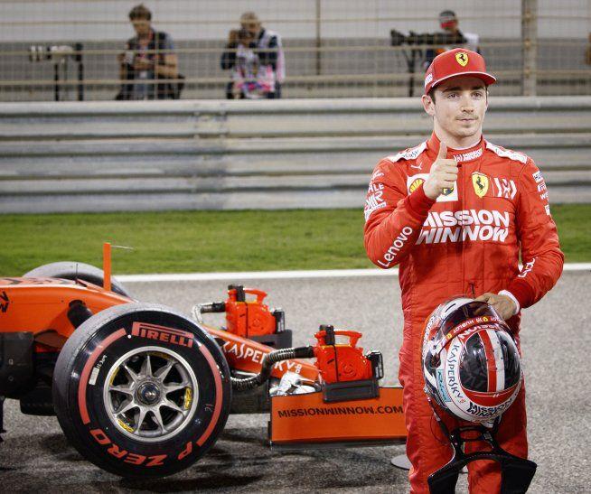 Charles Leclerc logró la pole de Bahrein.