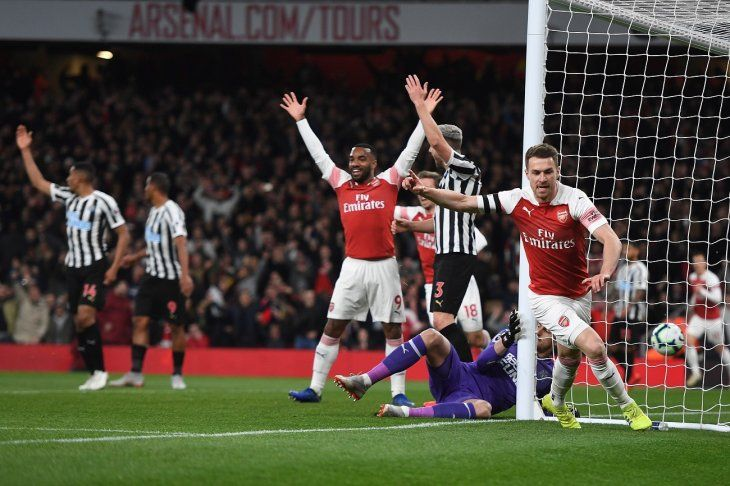 El Arsenal venció al Newcastle este lunes.