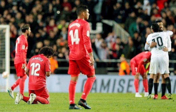 Real Madrid no pudo ante el Valencia.