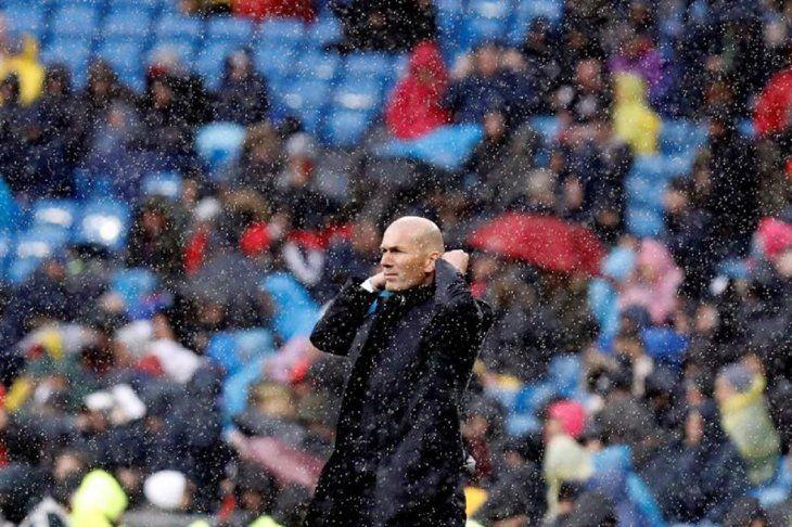 ZinedineZidane durante el partido ante el Eibar.