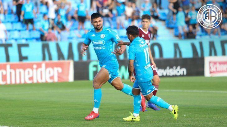 Juan Patiño se hizo sentir en el marcador con la camiseta de Belgrano.
