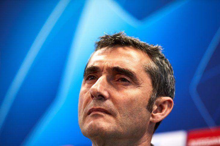 Ernesto Valverde habló en conferencia de prensa este lunes.